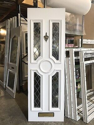 Second Hand UPVC Door Panel, 600mm Wide By 1860mm Height, 28mm Thick, (P731)