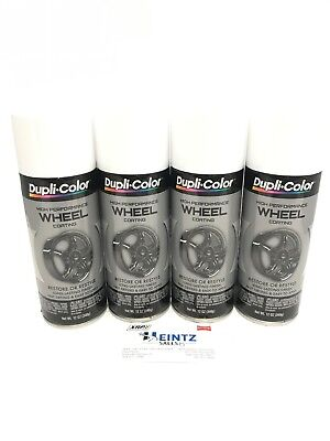 Duplicolor HWP100(4pack) High Performance WHITE Wheel & Rim Coating/Paint 11oz. - High Performance White Paint