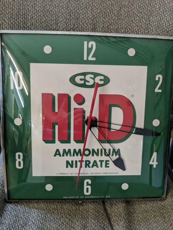 CSC Hi-D fertilizer PAM  advertising clock.