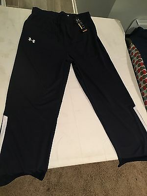 NWT $59.99 Under Armour Mens Campus Team Warm Up Pants Navy Blue Size XL