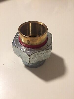 1-14 Lead Free Brass And Steel Dielectric Union Solder X Threaded