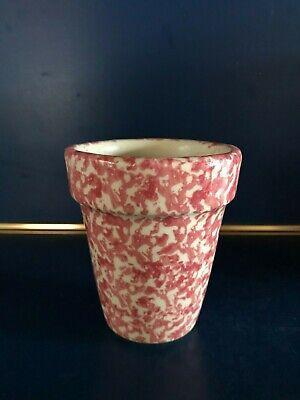Workshops of Gerald E. Henn PINK / ROSE Spongeware Flower Pot