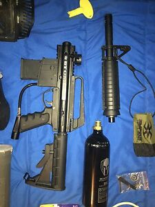 BT Omega paintball gun and accessories