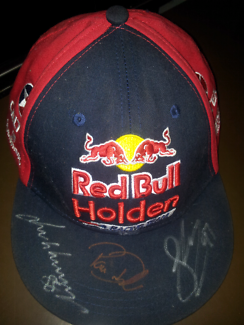 Red bull cap signed
