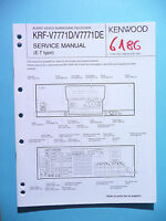 Service Manual Instructions For Kenwood Krf-v7771, Original - kenwood - ebay.co.uk