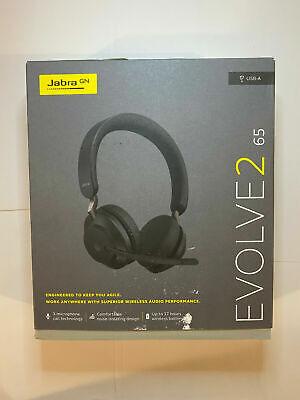 Jabra Evolve2 65 Stereo (USB-A) Black Headset w/ Multi-Device Connectivity