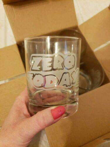 "Norfolk Southern ""Zero Today"" drinking glasses"