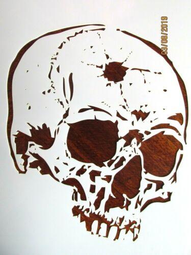 Skull Bullet Hole Skull Stencil / Template Reusable 10 mil Mylar