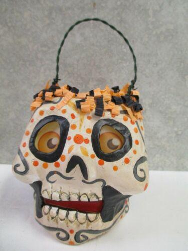 Halloween Day of the Dead Skull Bucket - Small - folk artist Jorge De Rojas