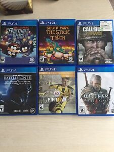 PS4 PlayStation 4 Cod ww2 Witcher 3