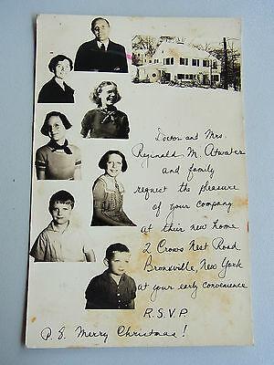 Foto BRONXVILLE (NY) um 1938: House of Mr. Reginald Myers Adwater & family