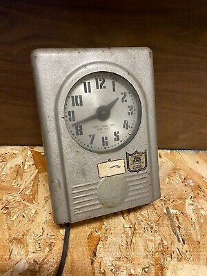 Vintage INDUSTRIAL TIME CLOCK wall clock Business