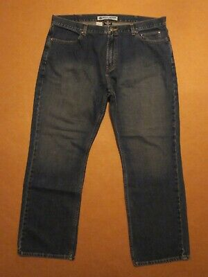 MENS HARLEY DAVIDSON RELAXED FIT STRAIGHT LEG DENIM BLUE JEAN PANTS SIZE 42 X 32
