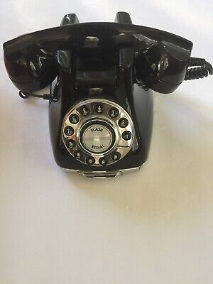 VTG TELEPHONE CLASSIC PHONE III RETRO BLACK PUSH BUTTON DIAL PHONE PF PRODUCTS
