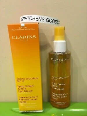 Clarins Sunscreen Care Oil Free Lotion Spray Outdoor Sports SPF 15 NIB 5 -