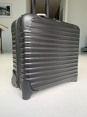 RIMOWA Topas Stealth Business IATA Pilot Cabin Trolley TSA lock black Alu Iata Cabin Trolley