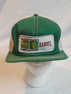 Vintage K PRODUCTS BRAND Made In USA Trucker Hat Western Farm Service Unworn