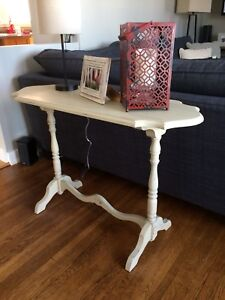 Antique sofa side table