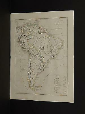 Atlas General De Geographie, c. 1850's South America Z1#82