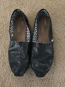 Glitter Toms shoes size 8.5