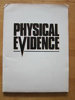PHYSICAL EVIDENCE Press Kit - Burt Reynolds, Theresa Russell, Michael Crichton
