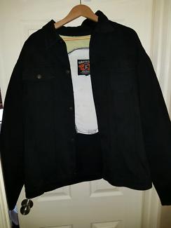 Wanted: Black demin biker jacket XXL