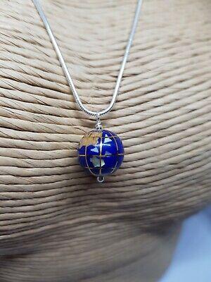 Unusual 10mm Blue Lapis Gemstone World Globe
