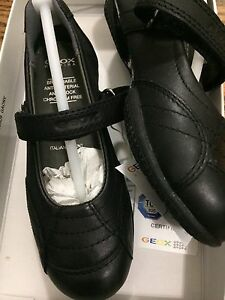 New geox black girls shoes school 10 27