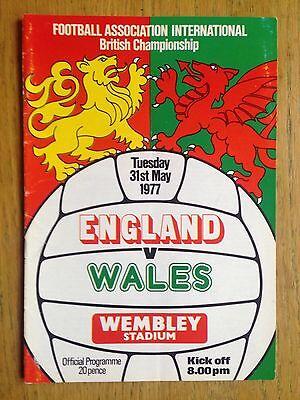 England v Wales 1976/77 programme