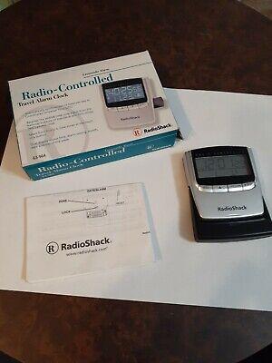 *Vintage* Radio Shack LCD Travel Digital Alarm Clock Radio Controlled 63-964