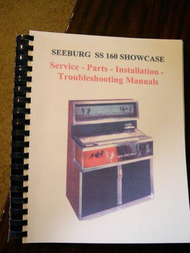 Seeburg SS160 Showcase Jukebox LARGE 4 Part Manual