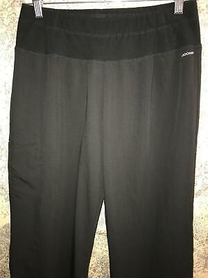 JOCKEY capri yoga scrubs pants nurse medical dental stretch black M 2358-015 Capri Nursing Pants