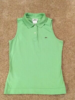 Lacoste Women's Sleeveless Polo Top Golf Tennis Size 36 Small