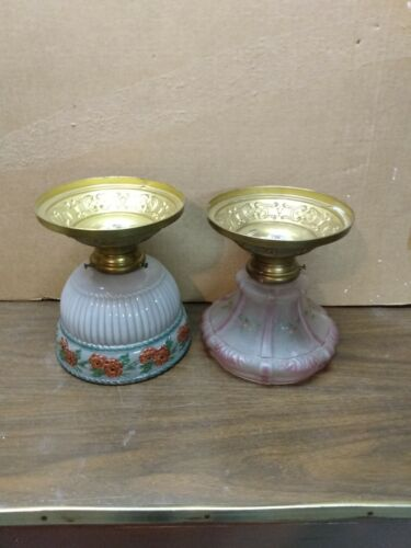Vintage Brass Ceiling Fixtures From 1920  (2)