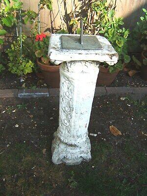 Garden Sundial Brass Gnoman Vintage - concrete - ideal refurb -