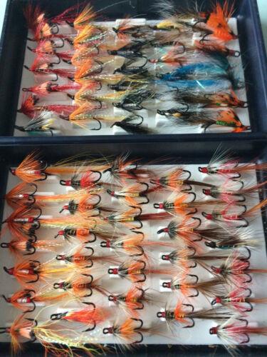 Salmon Flies in Fox Box