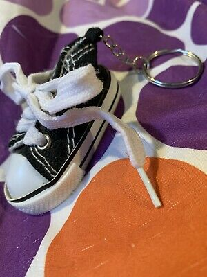Black And White Converse Shoe Keychain