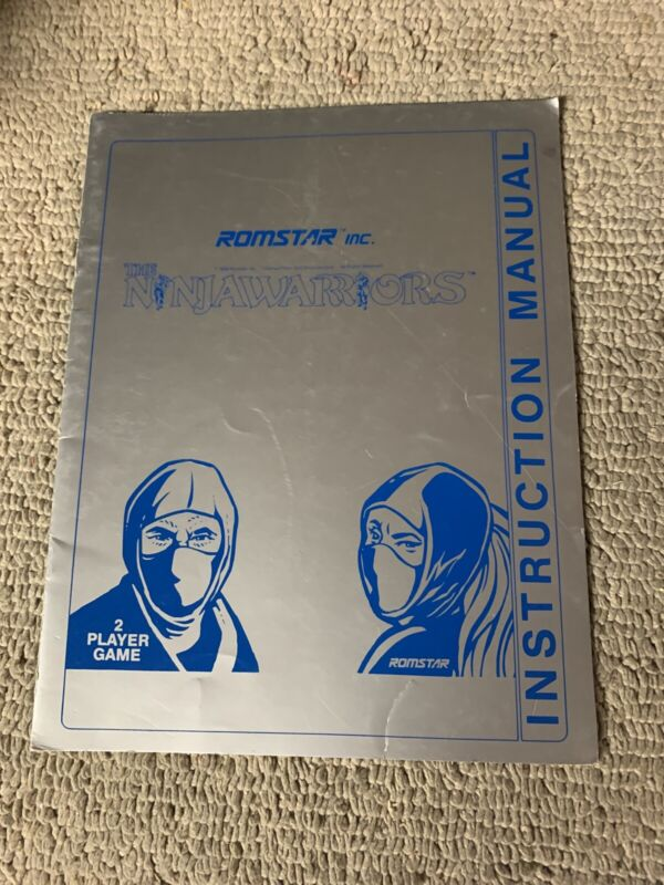 original The Ninja Warriors Romstar Taito  Arcade video game manual
