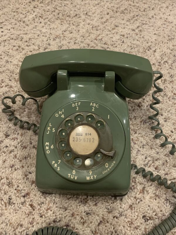 Vintage rotary green Telephone 1970s Property Of Ohio Bell