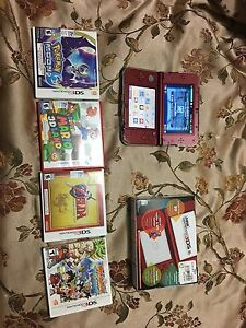 Brand New, New 3DS XL with 4 games