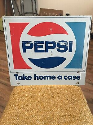 1960s PEPSI Cola Bottle RACK SIGN Take Home A Case
