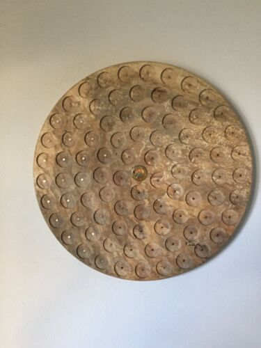 Round Pathtag Wall Display Wormy Maple