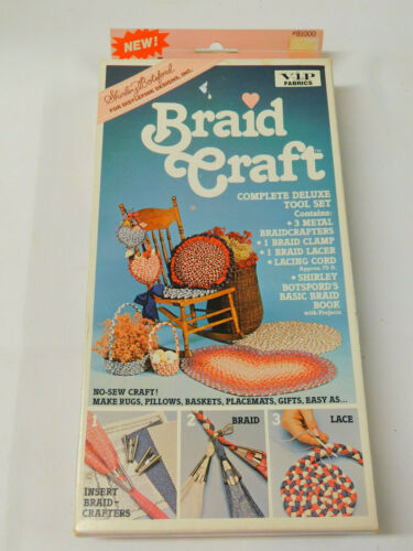 Shirley Botsford BRAID CRAFT Tool Set 3 Braiders Clamp Lacer Cord Rug Braiding