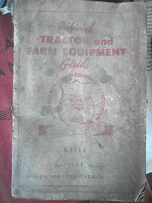 Official 1953 Tractor and Farm Equipment Price Guide