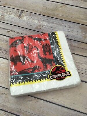 Vintage Retired Gibson Jurassic Park Party Supplies 20 Luncheon Napkins 3 Ply - Jurassic Park Decorations