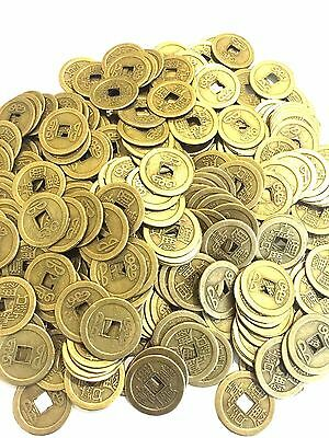 25 LOT FENG SHUI COINS 2.5CM LUCKY FORTUNE COINS CHING MONEY