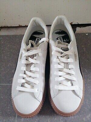 Puma Women White /Cream Platform Trainers Size 7