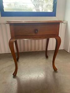 Wooden, single-draw side table