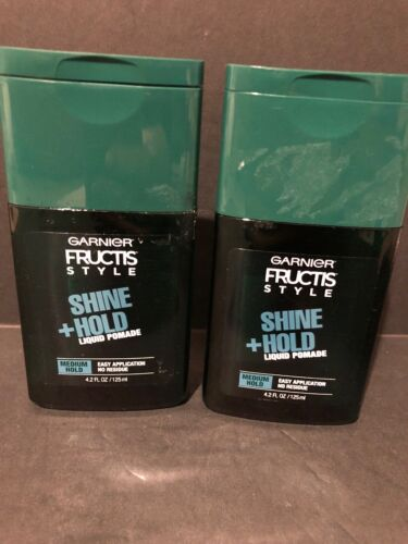 2 Pack Garnier Fructis Style Shine & Hold Liquid Pomade Med