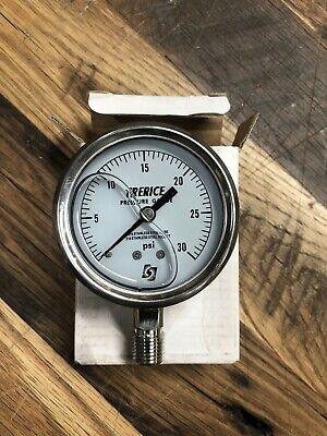 Trerice 2.5 Pressure Gauge Range 0-30psi Filled New